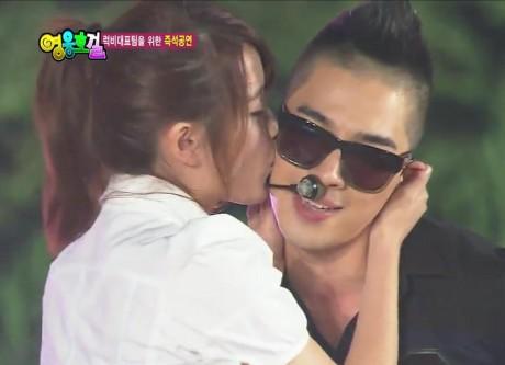 IU تقبل TEA YANG من الفرقة الشهيرة BIG BANG وتفصح له عن مشاعرها 20100725_iu_taeyangkiss-460x333