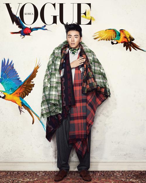Yoon Shi Yoon ملك الخَبْز في مجلة VOGUEبس هالمره ملك شي ثاني,أنيدرا